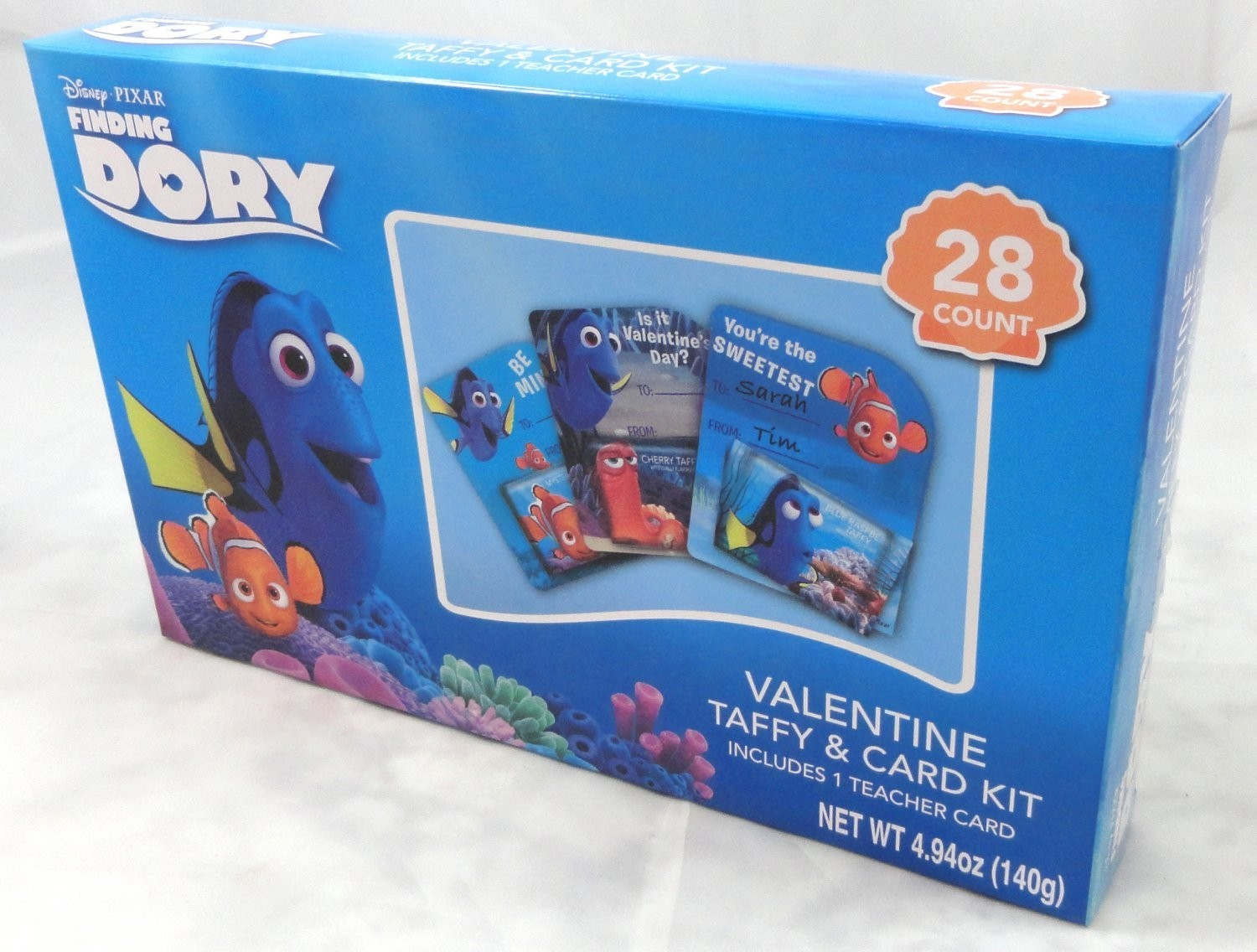 Disney Finding Dory Valentine 28Ct. Card & Taffy Kit