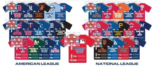 Major League Baseball Valentine 28ct. Pop & Card Kit