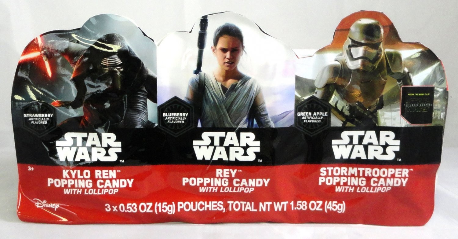 Star Wars Episode 7 3Pk. Popping Candy