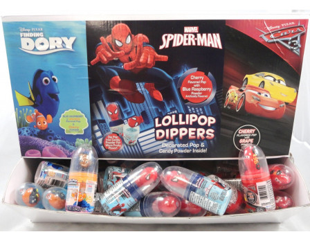 Disney Licensed Lollipop Dipper Power Panel - Finding Dory, Spider-Man & Cars 3