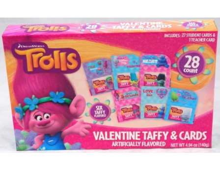 Dreamworks Trolls Trolls Valentine 28Ct. Card & Taffy Kit